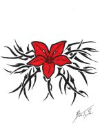 Tribal Hawaiian Flower Tattoo by BornToSoar