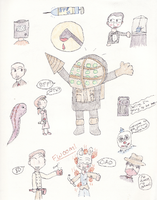 Bioshock Doodles by Luckybug76