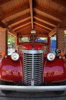 Vintage Red Fire Truck by Maggiesdaisy