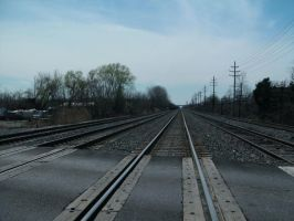 Railroad Track-3 by Rubyfire14-Stock