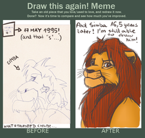 Before and After Meme - Simba by KGX347
