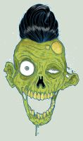 You can read my Zombie Face by paulorocker
