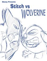 Stitch vs Wolverine by JABcomix