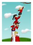 100 art 41: Teamwork by Maiden-Chynna