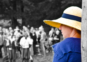 Yellow Hat Woman by marrciano