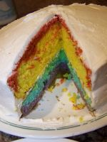 RAINBOW CAKE by Numbuh-9