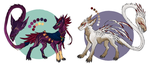 Fangtail Adoptables CLOSED by Silkkat