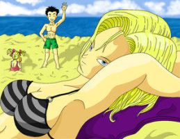 18 at the beach by dbz