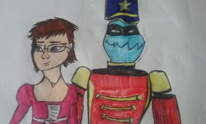 TMNT: Me and Slash as Clara and the Nutcracker by NinjaTurtleFangirl