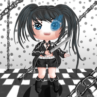 Black rock shooter by FairysLiveHere