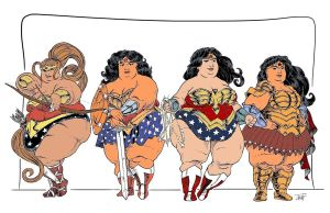 Jubilicious Girls: Wonder Women by comicfan67