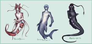 Sea Theme Eggs HATCHED by strxbe
