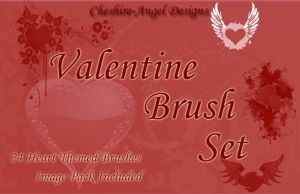 Valentine Brush Set by Cheshire-Angel