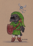 Mazz as Link by TornFeathers
