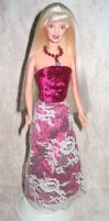 velvet and lace Barbie dress by prettysewingmachine