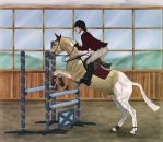 Winter Wonderland Show- Jumping by WB-Equine-Art