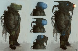 Reptile astronaut by Trudsss