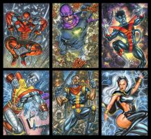 MARVEL PERSONAL SKETCH CARD MEGASET B by AHochrein2010