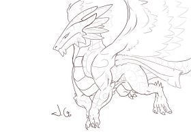 Exiel Contest Lineart by Meerin
