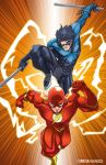 Flash III and Nightwing by MadPlatypuss