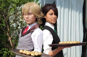Tiger and Bunny Cafe: the Waiters by eN-yen