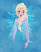 Disney's FROZEN - Elsa by David Kawena by davidkawena
