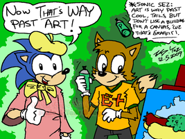Sonic n Tails 'Way Past Art' by kd99