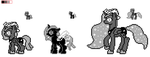 Moonstuck Ponies - Eight bit style by Banan-chan