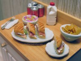 Dollhouse Food Cuban Sub Sandwich by MotherMayIjewelry