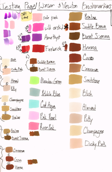Winsor and Newton Brushmarkers palette by 8bit-Mau5