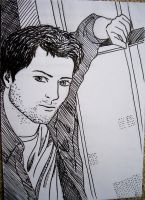 Misha Collins aka Castiel by blackbirdrose