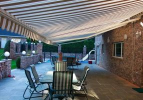Boston outdoor awning for a great living room at O by OceanViewAwng