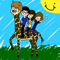 Andrei the Giraffe and Friends by LLavvliet
