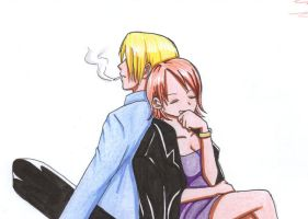 Sanji Nami colored by kaze-no-Kei