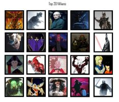 My Top 20 Villains by Austria-Man