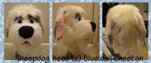 Shaemus Sheepdog Head by BlueWolfCheetah
