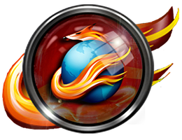 FireFox. Glass Button by SonicIcon