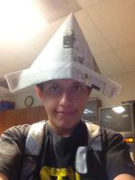 Me with the paper hat by 0640carlos