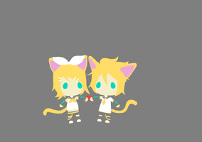 Kagamine Kitties by drpepperswife