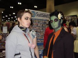 AX 2010 21: Veser and Zombie by The-Clockwork-Crow