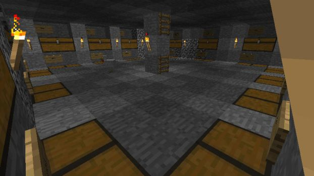 Minecraft Storage Room by Jhumperdink