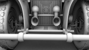 3D Bugatti 50T - Front AO by cytherina