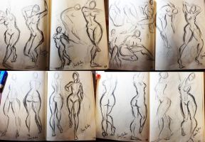Life Drawing Gestures HW by LittleSpaceStars