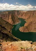 Flaming Gorge Red Canyon Over by houstonryan