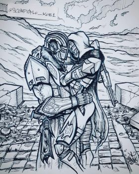 The Embrace by KobOneArt