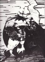 Batman Black and White Part I by boricuanart