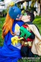 Innocent kiss for Damian by ComicChic19
