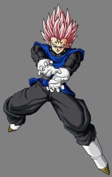 Majin Black Vegetto SSJ Rose by theothersmen