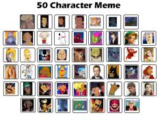 50 Character Meme by EgonEagle