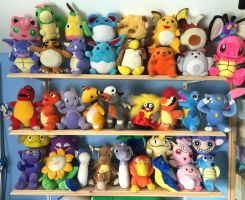 Updated Taiwan Mirage Pokemon Plush Collection by MizukiiMoon